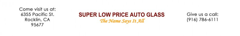 Super Low Price Auto Glass Sticky Logo